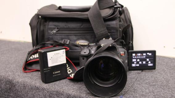 Camera Canon T5i - Lente Rokinon 85mm -t1.5- Full Frame-cine