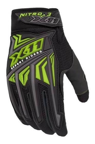 Luva X11 Nitro 3 Para Bicicleta Motocross Bike Moto Neon Nf