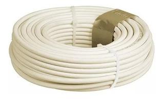 Cable Telefonico Plano 4 Vias 100 M Marfil Mitzu 14-1010m