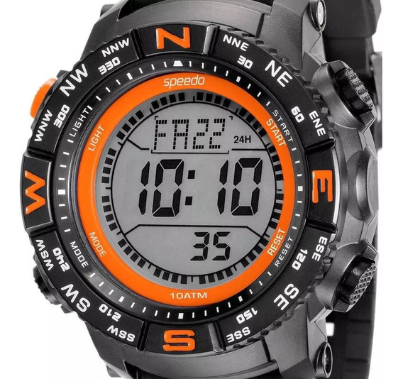 Relógio Speedo Cronômetro Alarme Grande 49mm 81137g0evnp3
