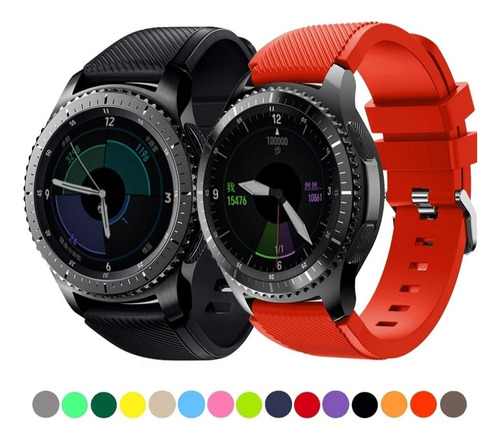 Pulso Goma Colores Samsung S3 Classic/frontier  Watch 46mm