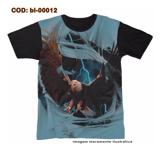 Camisetas Personalizadas , Estampa Digital Águia 3d