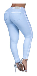 Linda Calça Skinny Azul Bebê Pit Bull Jeans Original