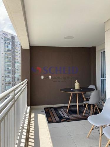 Lindo Apartamento Com Ampla Sacada 65m 2 Dorms 1 Vaga Mobiliado Com Lazer Completo. - Mr74818