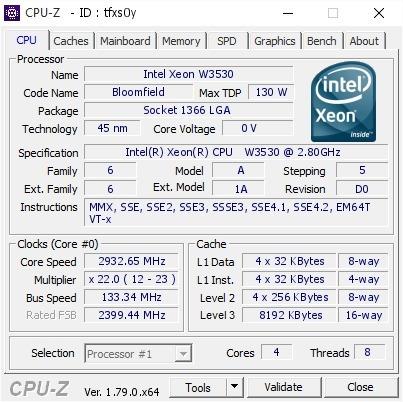 Processador Intel Xeon W3530