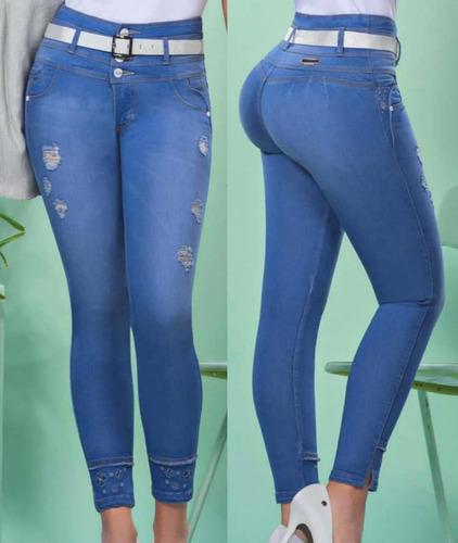 Jeans Love Me Para Mujer Tiro Alto Bota Tubo Nueva Coleccion Mercado Libre