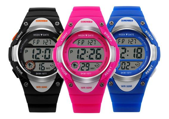 Relógio De Criança Infantil Skmei Esportivo Digital Original