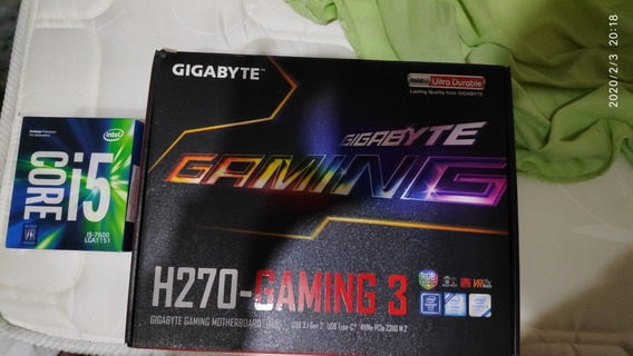 Kit Com Placa Mãe Gigabyte H270 Gaming +processador I5 7600