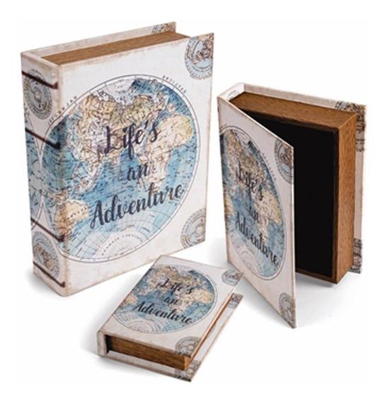 Kit 3 Livros Caixa Adventure