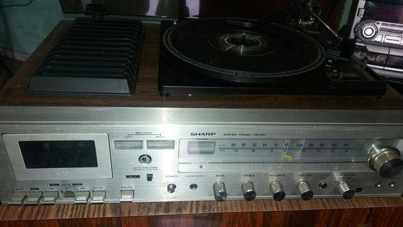 Vitrola Antiga 3 Em Um Toca Vinil Rádio.leia Descrição