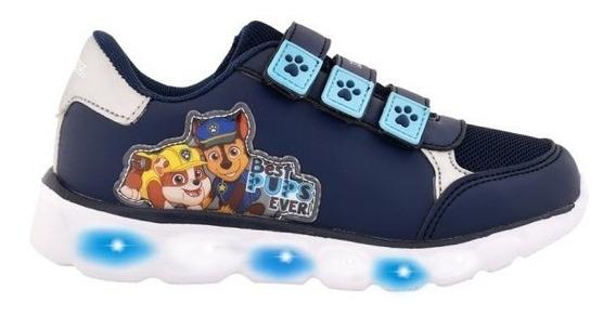 Zapatillas Footy Azul Paw Patrol Niños Con Luz Fty Calzados