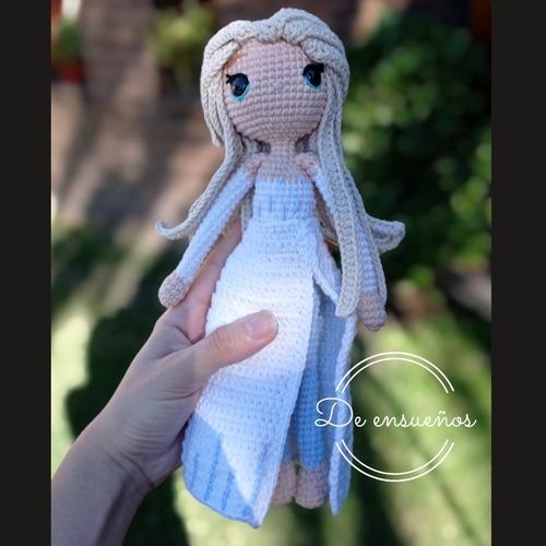 Muñeca Amigurumi Elsa Frozen (tejida A Crochet)