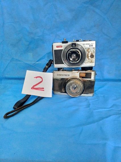 Duas Máquinas Fotográficas Antigas Vintage Lote 2