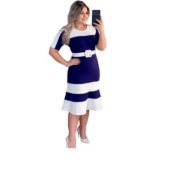 Vestido Evangelico Midi Longuete Moda Roupas Femininas