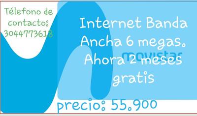 Internet 6 Megas Ilimitadas.