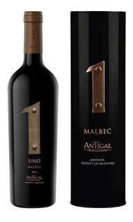 Vino Antigal Malbec 750ml En Estuche De Lata