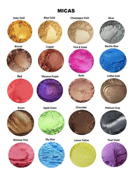6 Pigmentos: Micas, Neón, Óxidos. Para Jabones, Cosméticos..