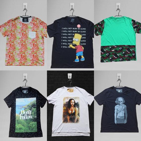 Camisetas Masculinas Gola O