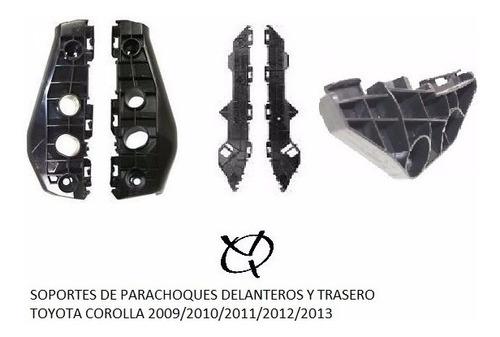 Bases Parachoque Delantero  Y Trasero Corolla 2009 2010 2011