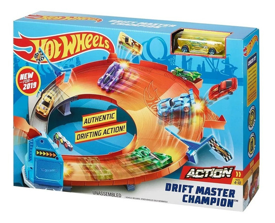 Hot Wheels Pista Campeonato De Drift Drifting Gbf84 Mattel