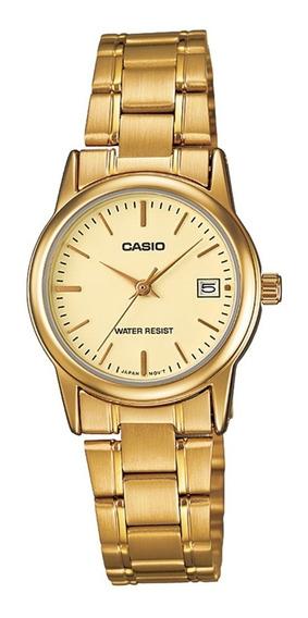 Relógio Casio Collection Analógico Feminino Ltp-v0042g-9audf