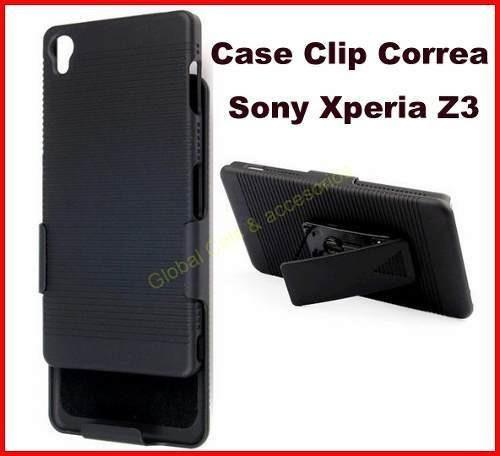 Sony Xperia Z3 Case Clip Gancho Protector Funda Holster