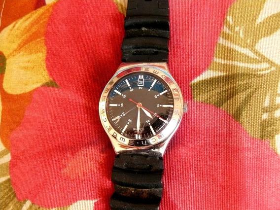 Relógio Swatch Irony Ag2002 Swiss Calendário 12 Hs
