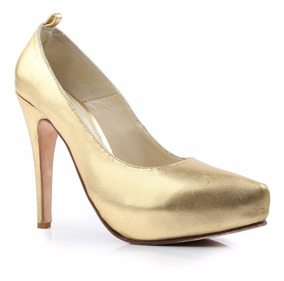 a789aa39f6 Zapatos Mujer Plataforma - Zapatos Dorado oscuro en Mercado Libre ...
