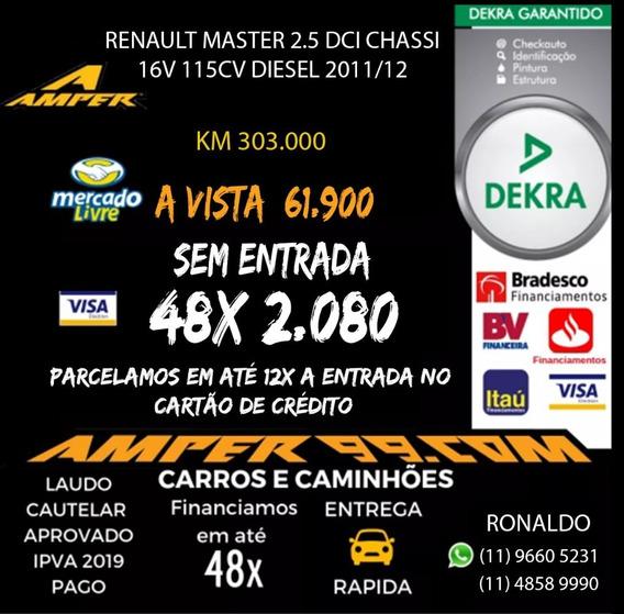 Renault Master 2.5 Dci Chassi 16v 115cv Diesel 2011/12 B75