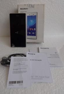 Smartphone Sony Xperia M4 Aqua _ Prata _ Semi Novo