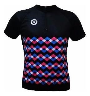 Camisa De Ciclismo Feminina Ciclopp Chevron P Frete Grátis