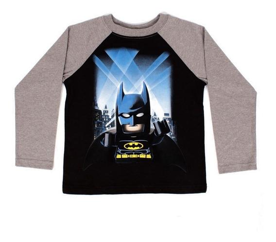 Playera Para Niño Lego Estampado Batman En Ciudad Gótica