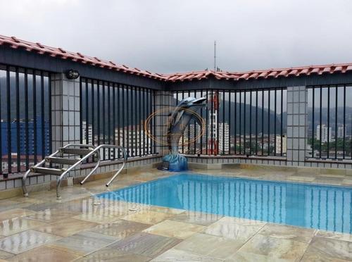 Cobertura  Com 3 Dormitório(s) Localizado(a) No Bairro Campo Grande Em Santos / Santos  - 5368