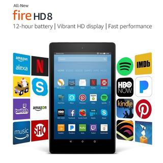 Kindle Tablet Fire Hd 8, Con Alexa, Aplicaciones Gratis