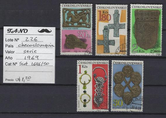 Lote226 Checoslovaquia Serie Completa Año 1969 Scott#1646/50