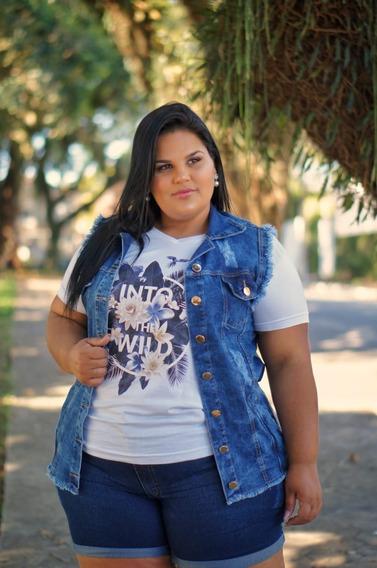 Short Jeans Feminino Barra Dobrada Plus Size 44 46 A 52 54 56 58 60 62 64 66 3102