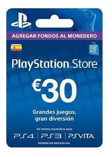 Imagen 1 de 2 de Tarjeta Psn 30 Euros España Entrega Inmediata!! Ade Ramos