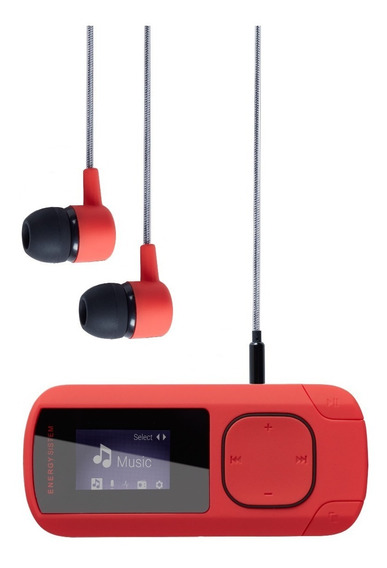 T Mp3 Energy Sistem Music Clip 8 Gb Coral Envío Gratis