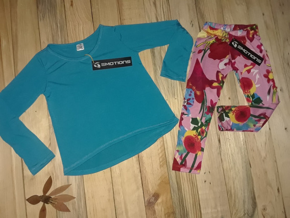 Conjunto Niña Casual Emotions Leggins Pantalones Mas Sweater