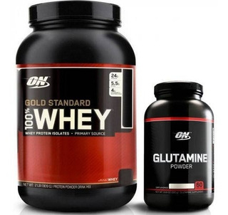 Whey Gold Standard 907g + Glutamina 300g - On