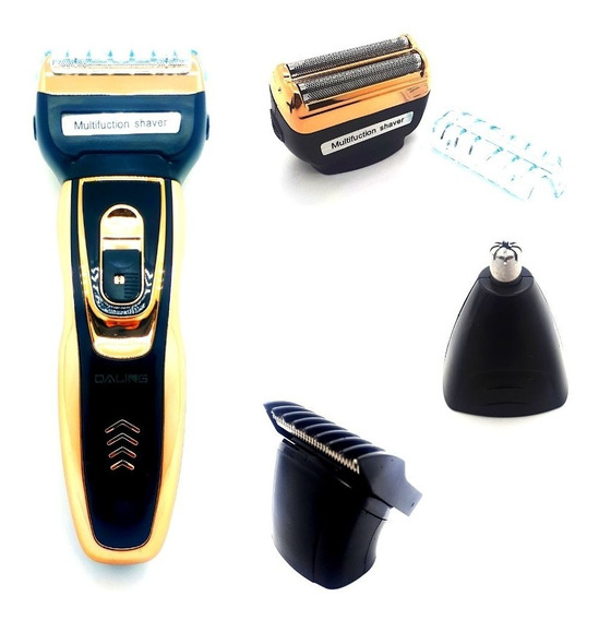 Kit 5 Barbeador Elétrico, Máquinas De Barbear, Aparador De Pelos, Maquina De Cortar Cabelo 3 Em 1 Daling