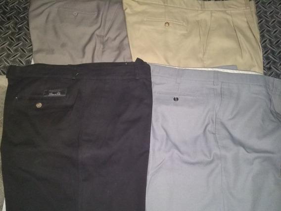 Pantalón De Vestir De Hombre Talle Especial 60.