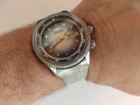 Relógio Orient Automático Kd Excelente E Raro Azul Lindo