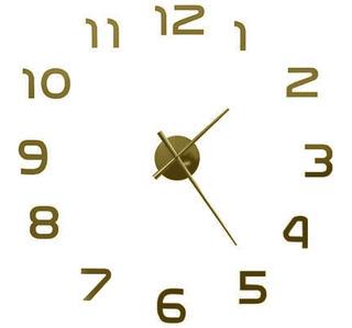 Reloj De Pared Gigante 3d Adherible A Pared Chico 10/70 Cm