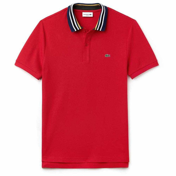 Polo Lacoste Corte Slim Cherry Manga Corta Multicolor