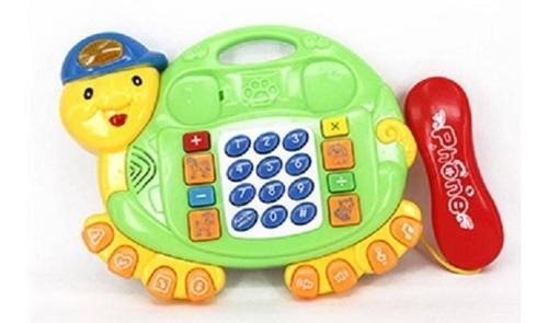 Telefone Musical Infantil Tartaruga - Telefoninho Brinquedo
