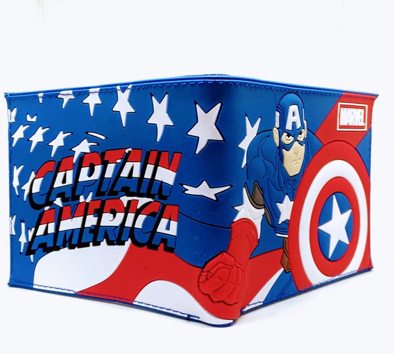 Billetera Capitan America Full - Marvel - Purpura Funnyland