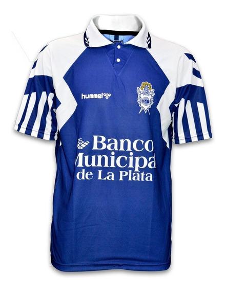 Camiseta Gimnasia La Plata (gelp) - Hummel 1996 Azul Suplente Retro - Nueva - En La Plata