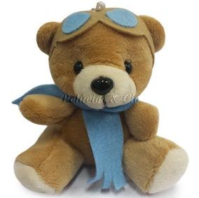 Mini Chaveiro Urso Aviador Baby - Lembrancinha - Unidade