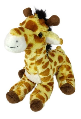 Imagem 1 de 3 de Girafa De Pelúcia Safari Sentada